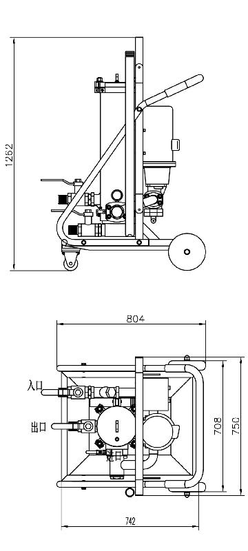 移动式高效滤油车尺寸