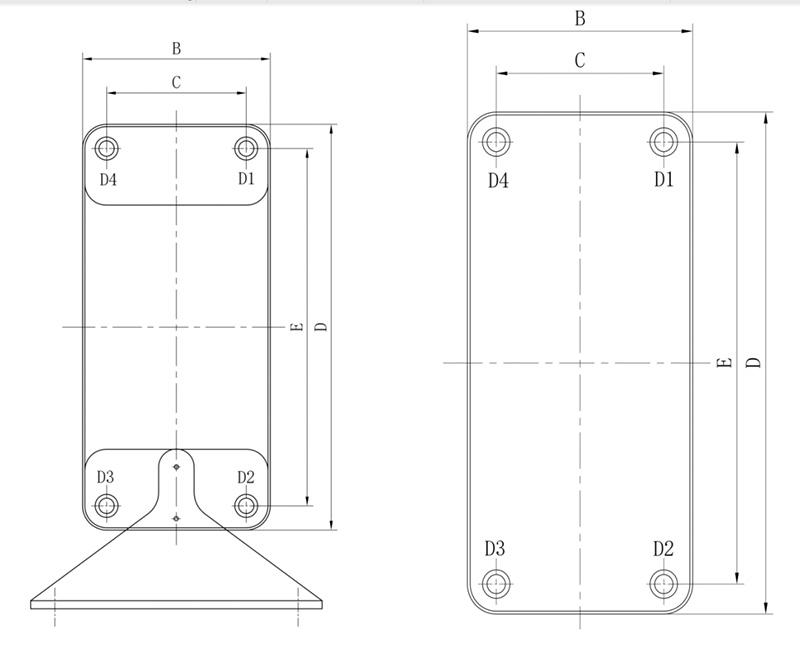 钎焊式板式换热器原理图