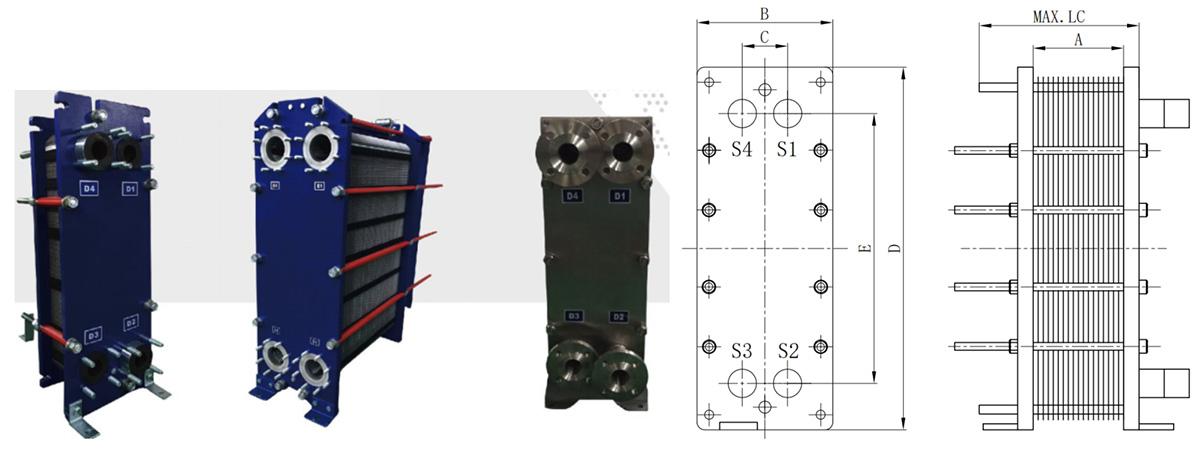 板式换热器拆装图